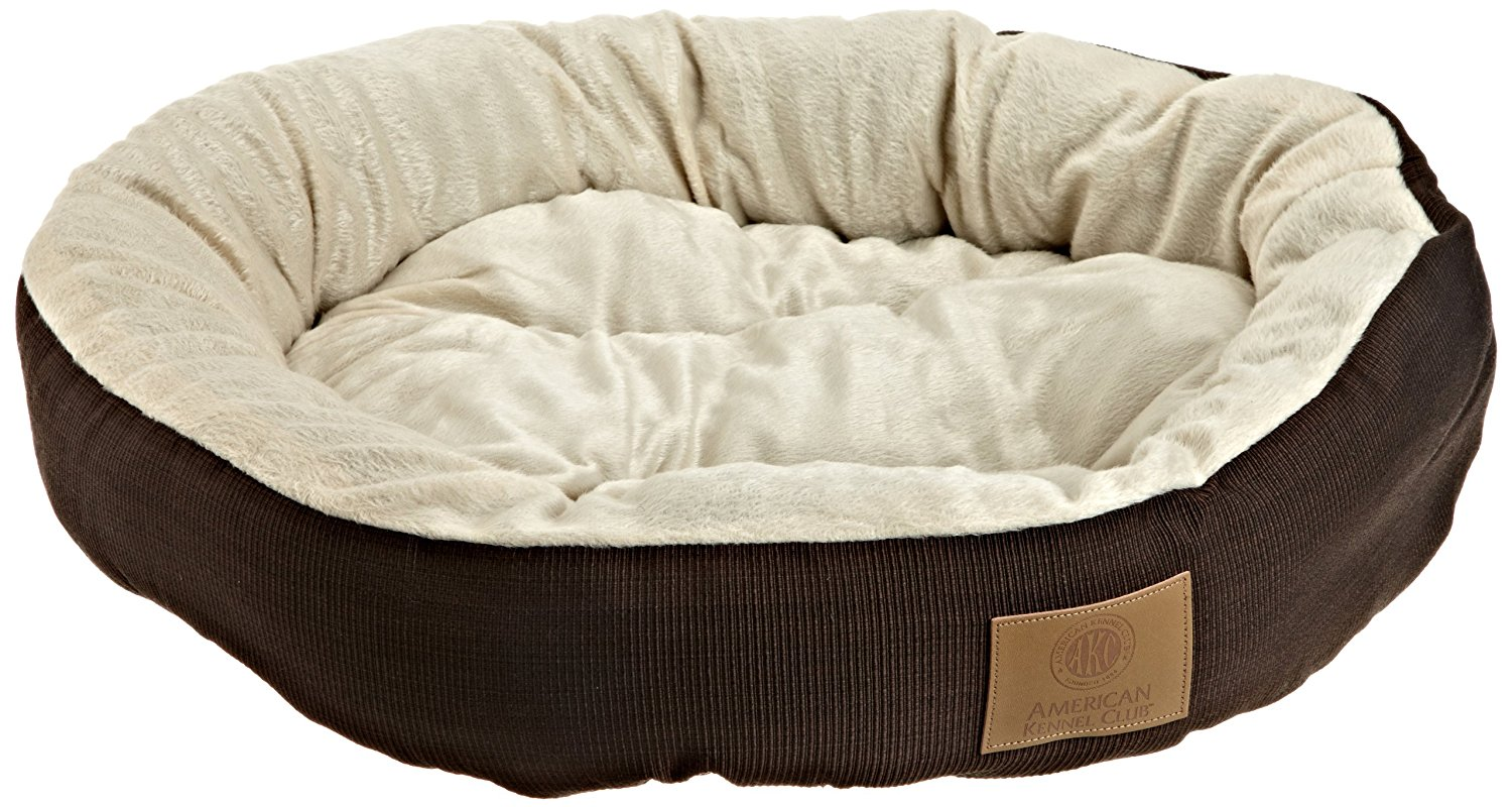 1.-AKC-Casablanca-Round-Solid-Pet-Bed 10 Best Beds for Large Dogs
