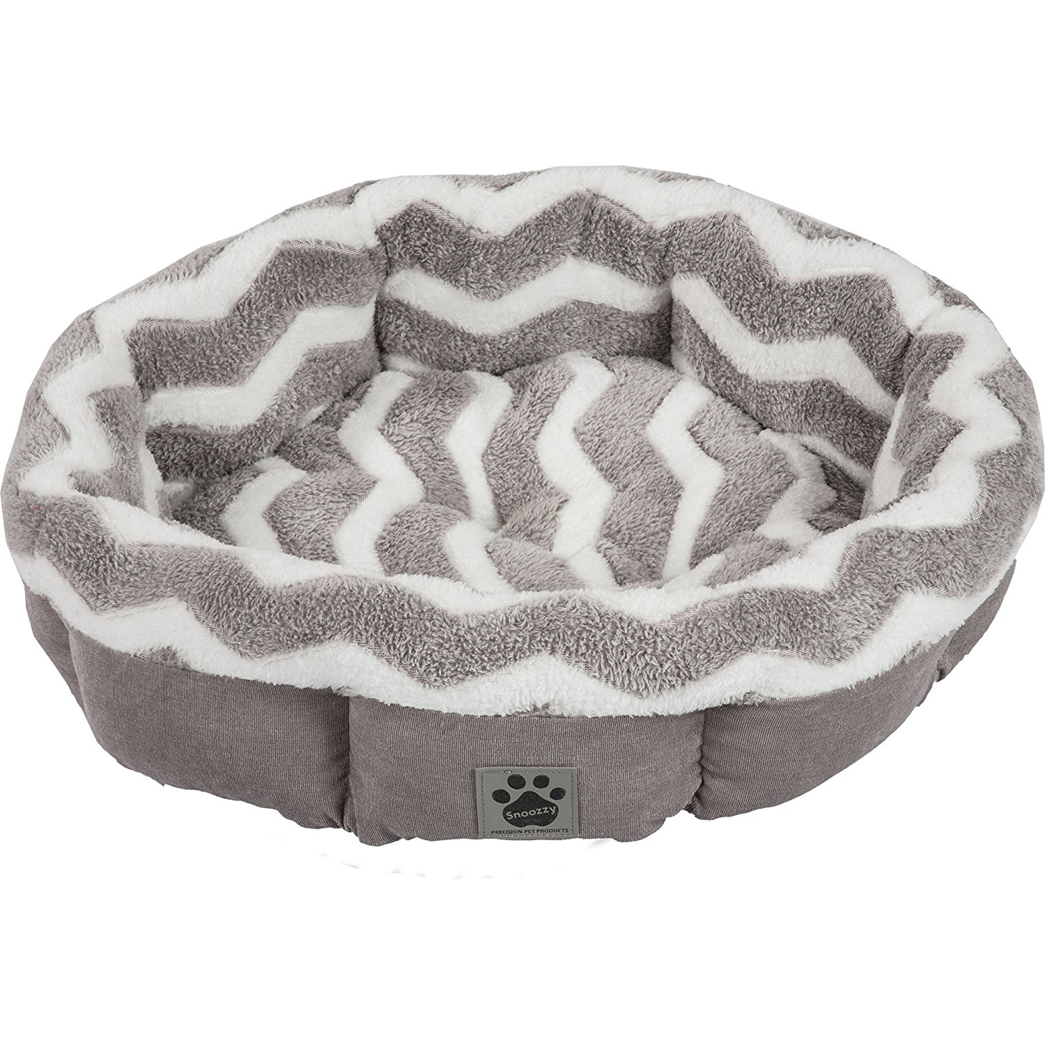 10.-Precision-Pet-SNZ-HZZ-Shearling-Round-Bed 10 Best Dog Beds for Small Dogs