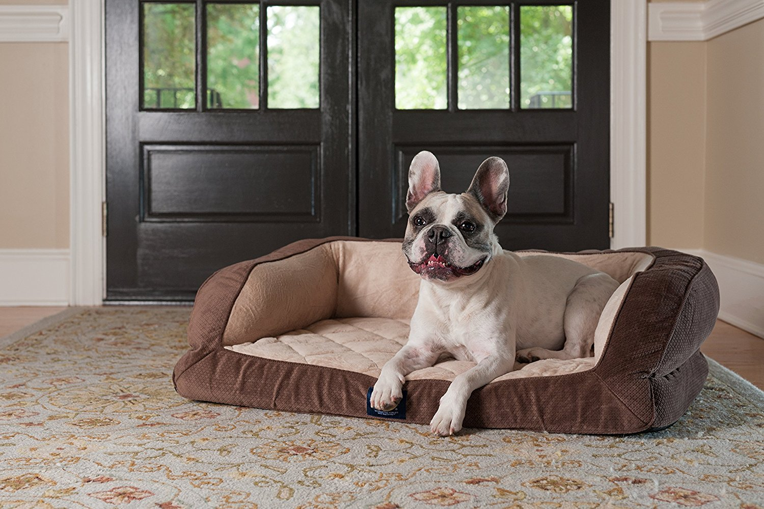3.-Serta-Orthopedic-Quilted-Couch 10 Best Beds for Large Dogs