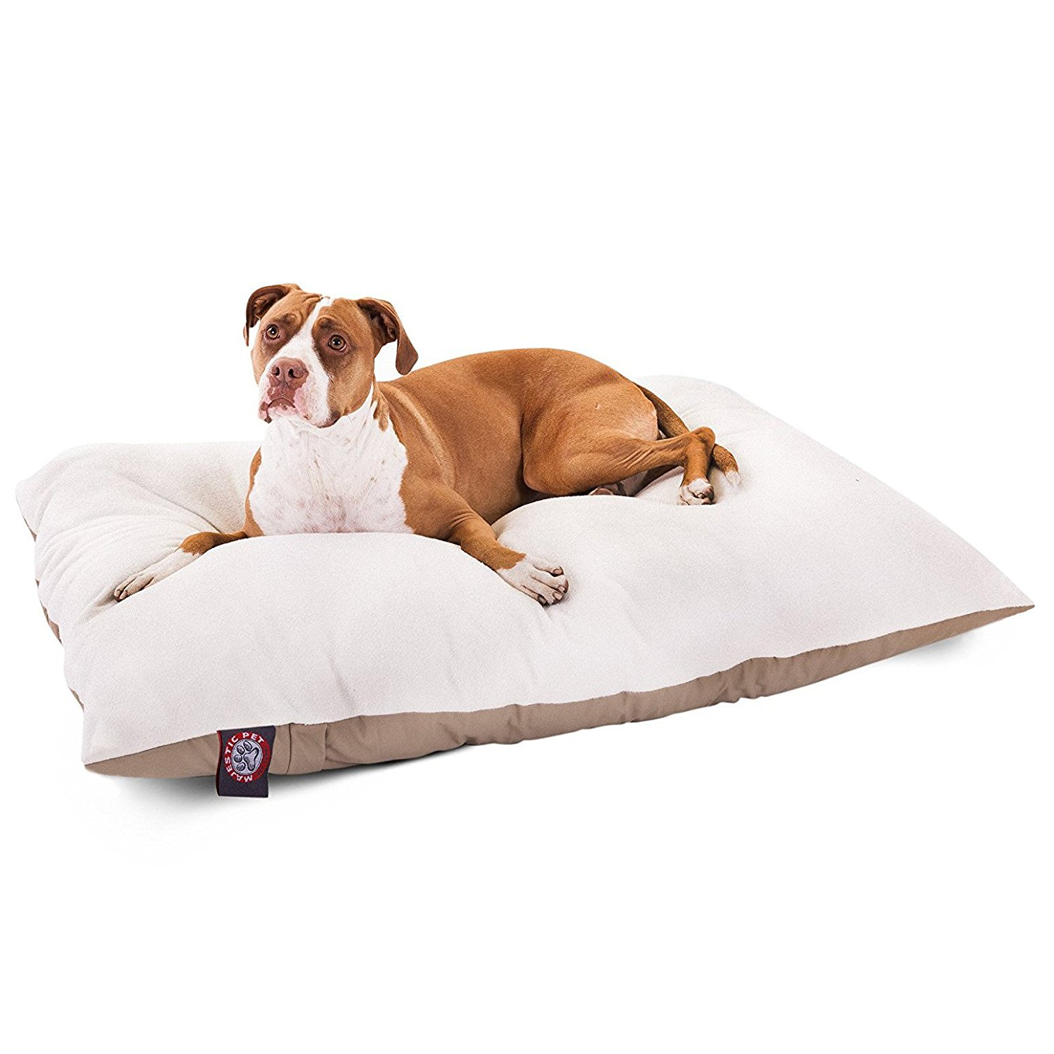 4.-Polyester-Cotton-Sherpa-Rectangle-Pet-Dog-Bed-By-Majestic-Pet-Products 10 Best Beds for Large Dogs