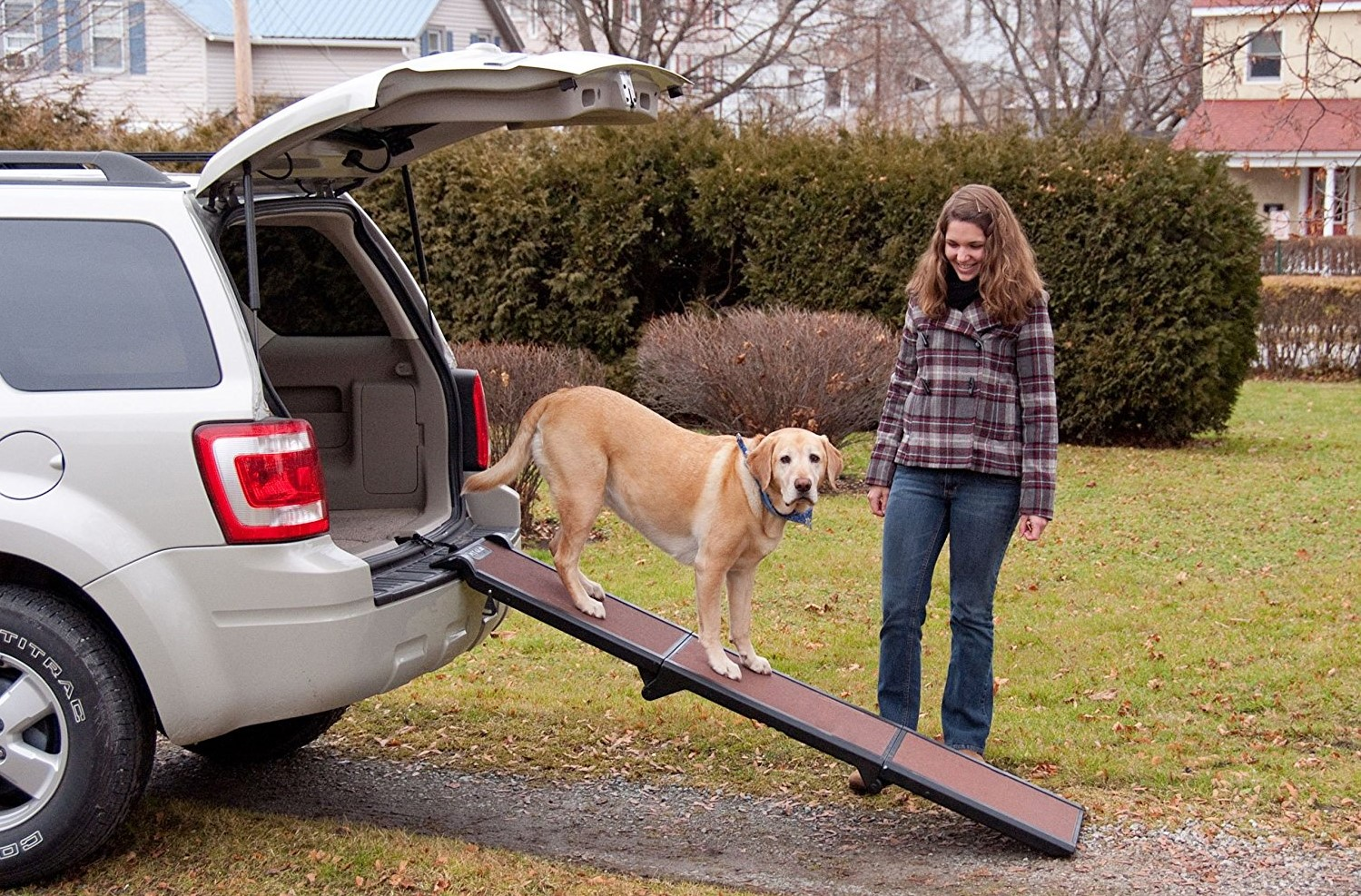 Pet-Gear-Tri-Fold-Ramp-Supports-up-to-200lbs-71-in.-Long-Patented-Compact-Easy-Fold-Design-Two-Models-to-Choose-from-Safety-Tether-Included-1 10 Best Pet Ramps