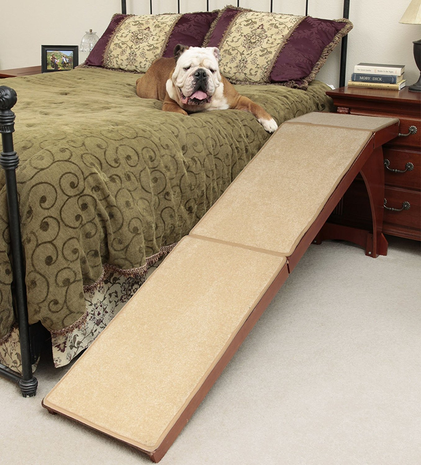 Solvit-Wood-Bedside-Ramp 10 Best Pet Ramps